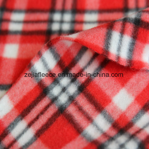 Brushed Polar Fleece with Check Designs