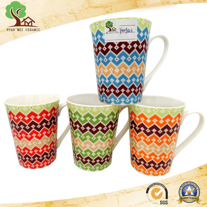 New Bone China Ceramic Mug with Stripe Line