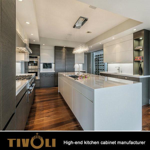 New Glossy Customized Modular Wood Kitchen Cabinet