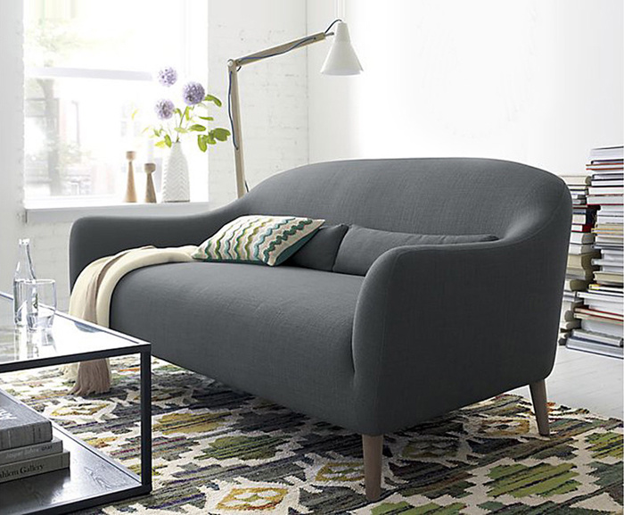 Promotional Home Furniture European Modern Simple Fabric Sofa (1+2+3)