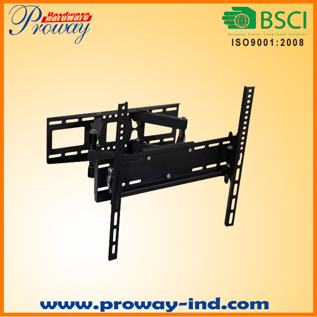 Dual Arm Full Motion TV Wall Mount for 32-55 Inch LED LCD Tvs with Max Vesa up to 400*400mm Heavy Duty 110lbs