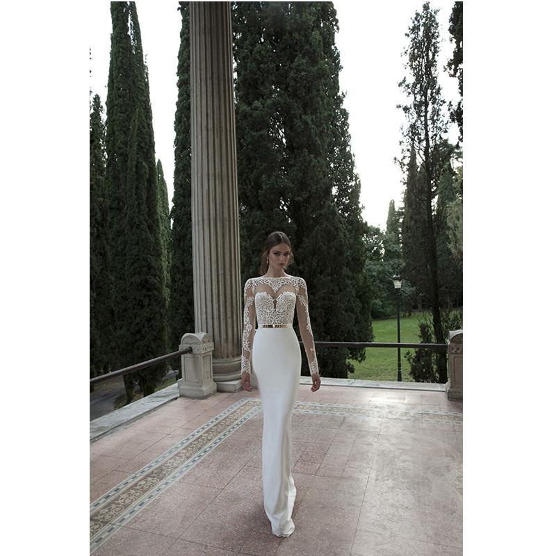 2017 Elegant Lace Keyhole Back Long Sleeves Bridal Dress (Dream-100006)