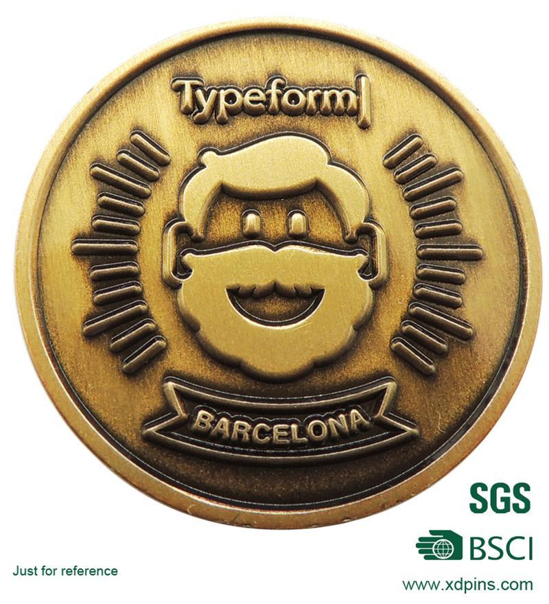 Custom Souvenir Coin with Imitation Enamel Finished