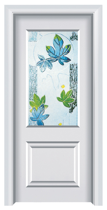 European Style White Interior Steel Wooden Door (FXGS-076)