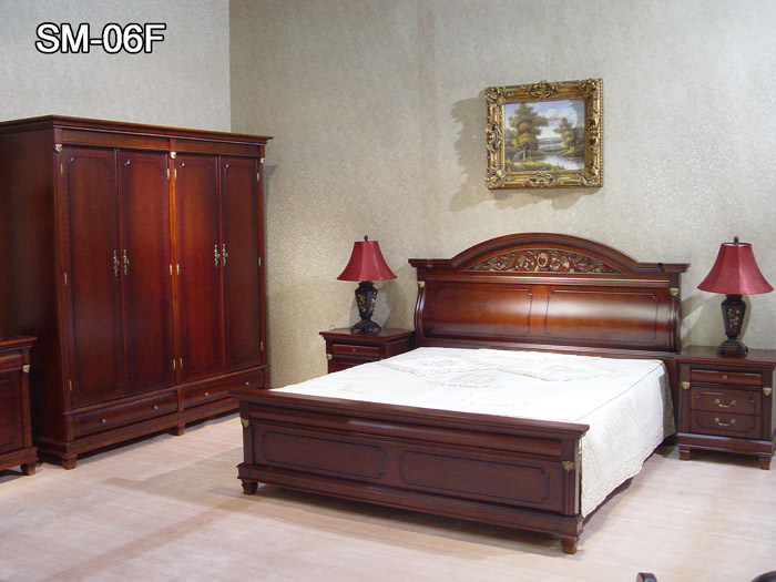 China Bedroom Furniture SM 06F China Bedroom Furniture Luxury