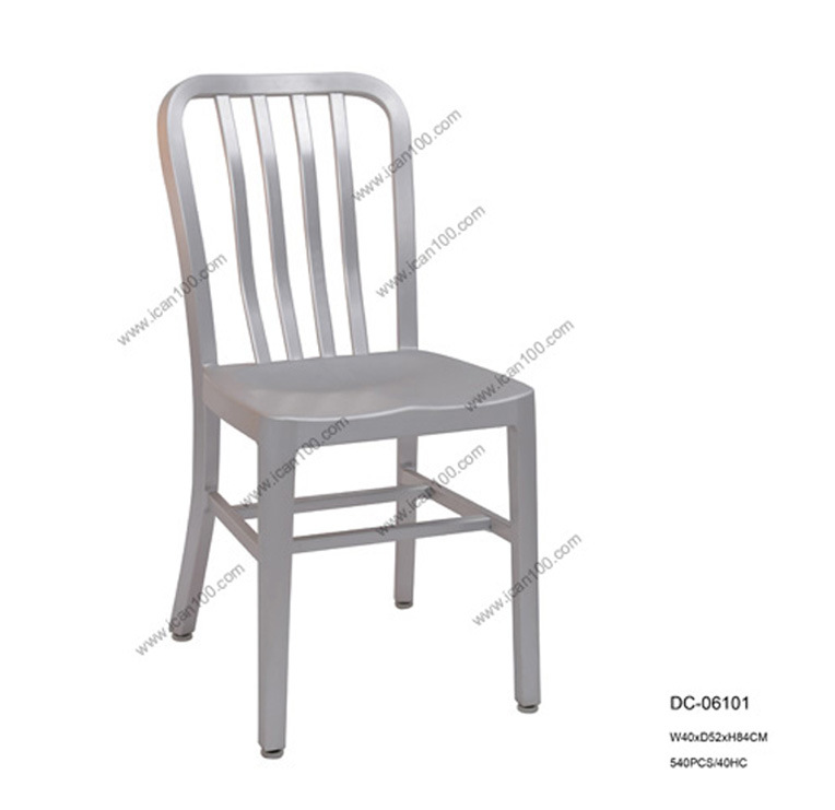 Manufacturer of Cast Aluminum Navy Dining Chairs (DC-06101)