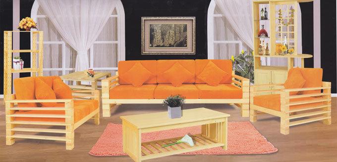 China Corner Wooden Sofa Sets Csf706 China Wooden Sofa
