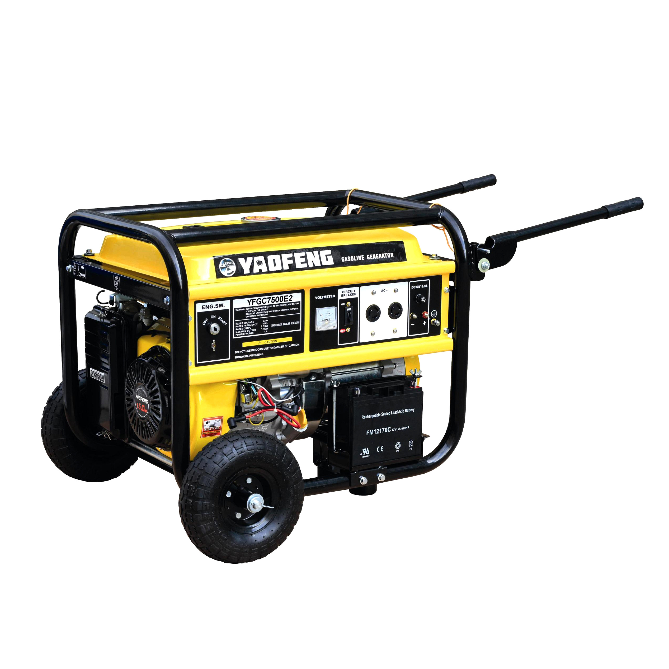 6000 Watts Portable Power Gasoline Generator with EPA, Carb, CE, Soncap Certificate (YFGC7500E2)