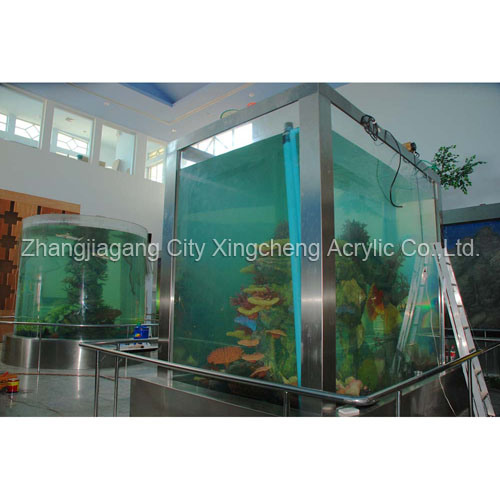 China acrylic sheet acrylic aquarium acrylic tunnel for Square fish tank