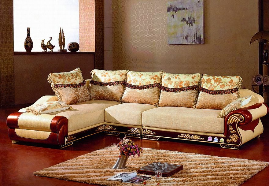 designer sectional sofas with exposed wood sofa design