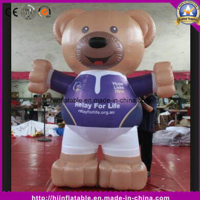 High Quality Inflatable Bear Cartoon for Advertising