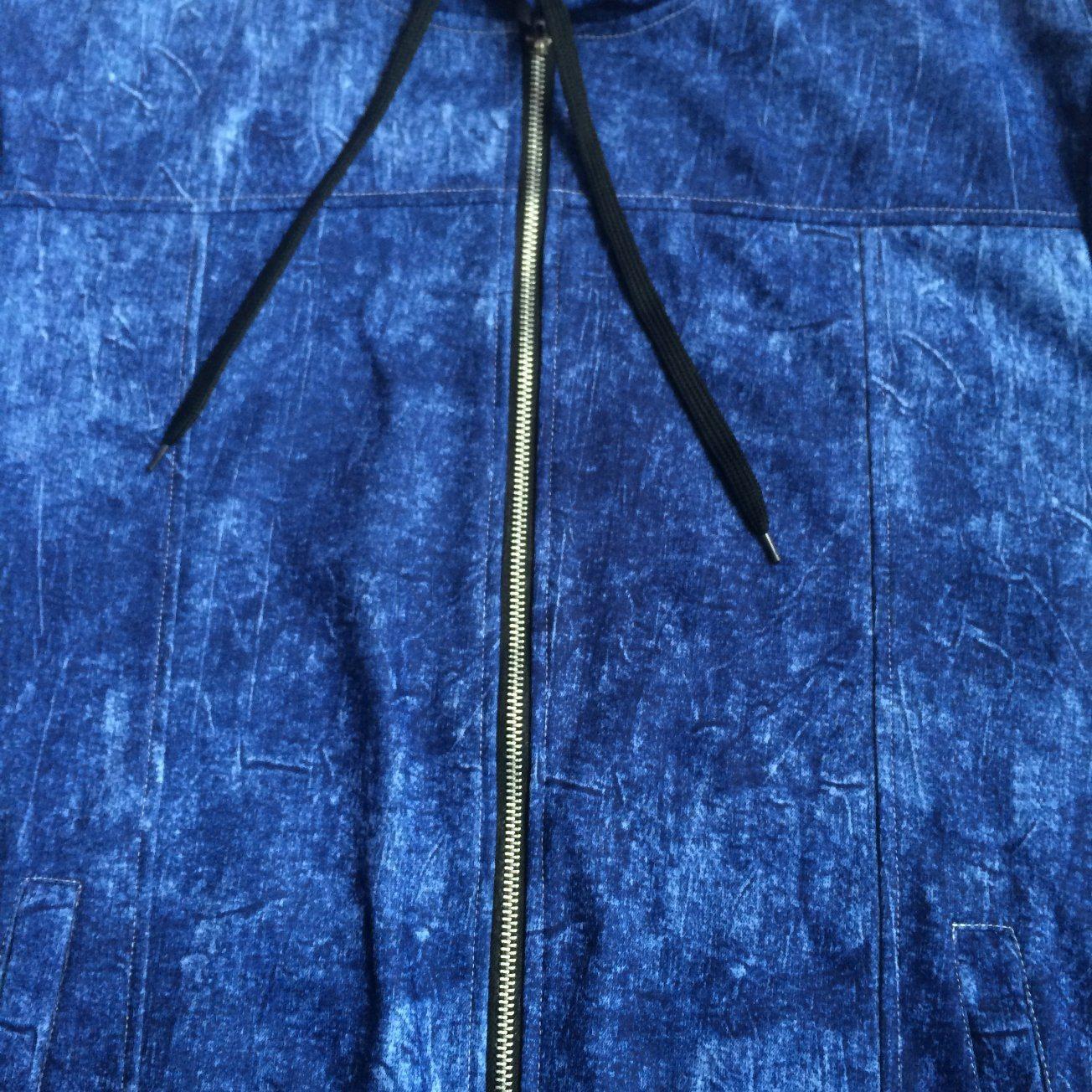 Fashion Fleece Zip-up Man Denim Sport Hoodies Clothes in Audlt Sport Wear Fw-8664