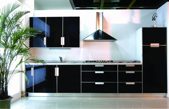 elegant modern kitchen furniture  interior design and decorating,Black Kitchen Set,Kitchen ideas