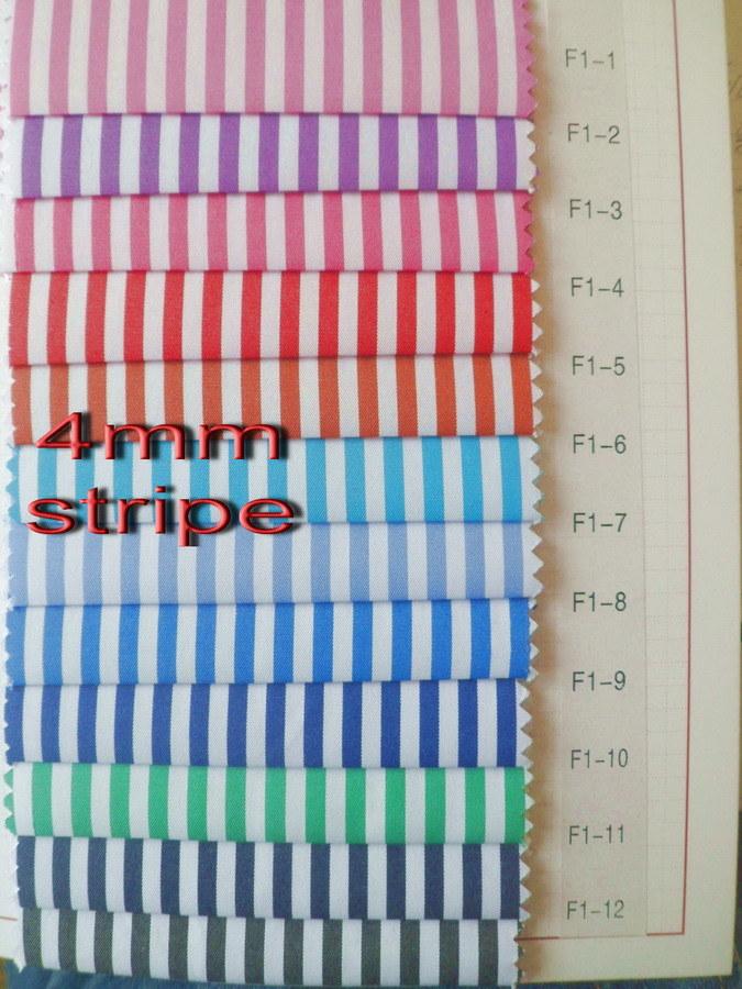 4 mm Stripes Twill Yarn Dyed Shirt Fabric
