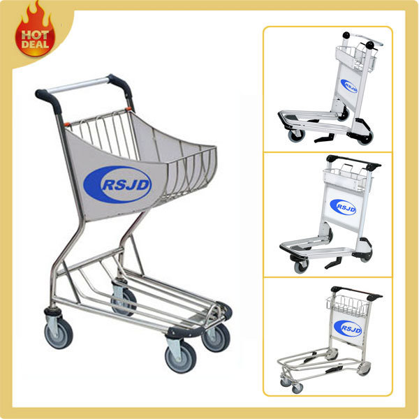 4 Wheels Aluminum Alloy Hand Airport Shopping Trolley (BW3)