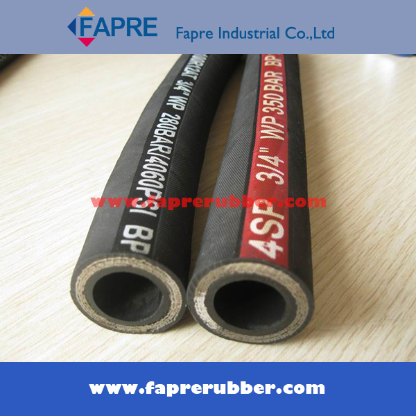 Steel Wire Braided Reinforcement Hydraulic Hose (DIN 2SH)