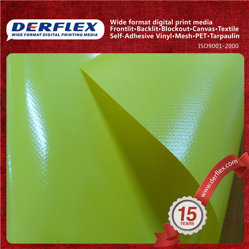 One Side Lacquered/Tent/ Truck Cover/Fire Retardant/Anti-Mildew PVC Coated Tarpaulin