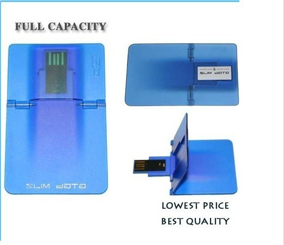 Real Capacity of 64MB to 32GB Credit Card USB Flash Drive