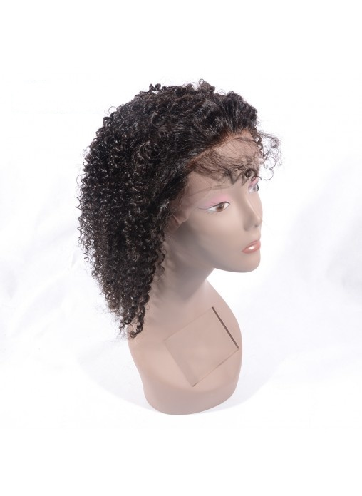 100% Virgin Human Hair Jerry Curly Lace Front Wig