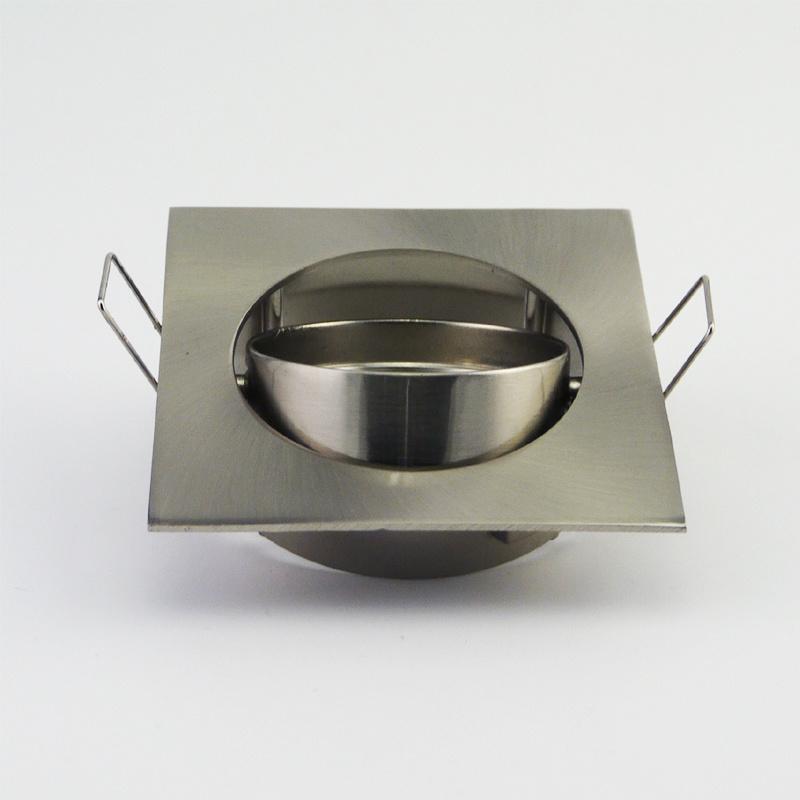 Aluminum Die Casting GU10 MR16 Square Tilt Recessed LED Downlight (LT1201)
