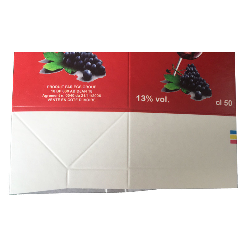 Red Wine Gable Top Carton with Caps