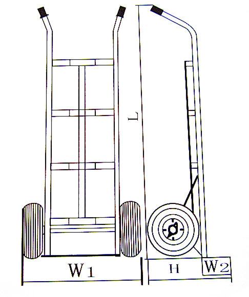 Portable Aluminium Alloy Hand Trolley