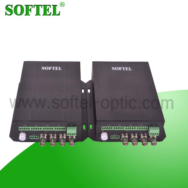 1 Video 1 Data Fiber Optical Video Converter