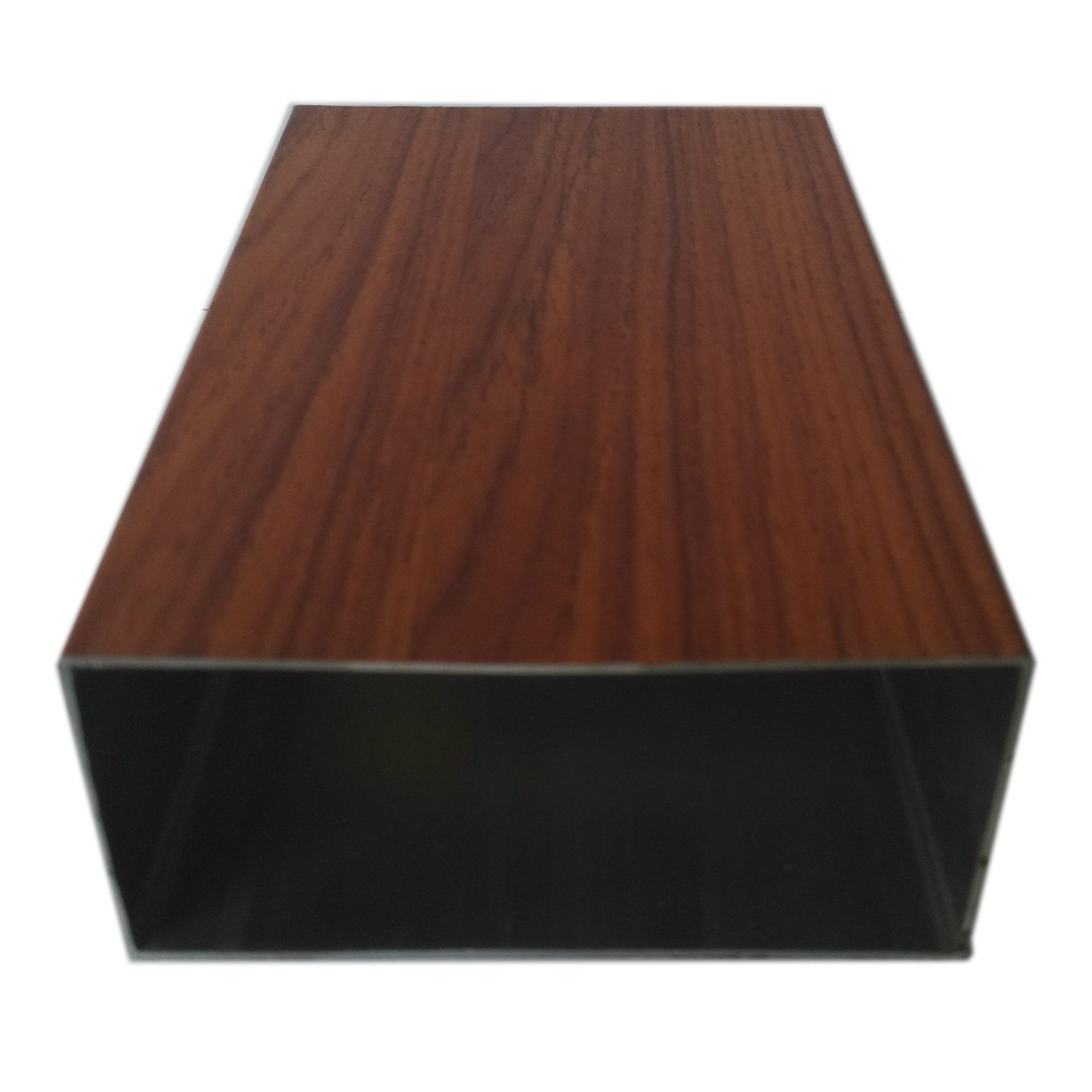 China Wood Grain Trsanfer Profile Aluminium Extrusion Profile for Window Door Industry