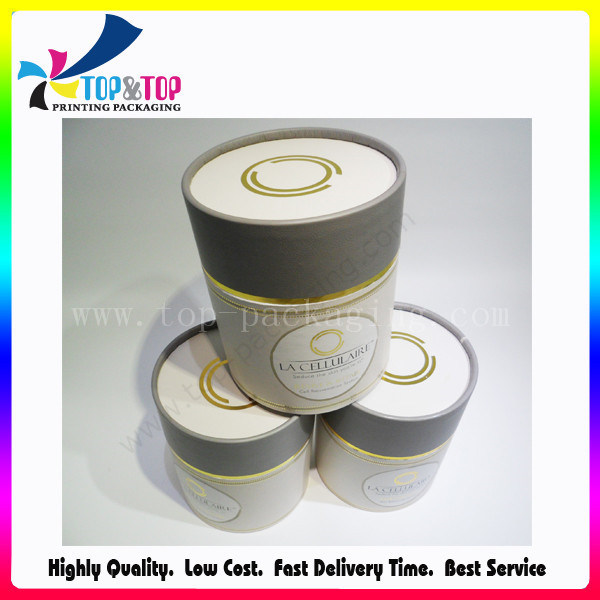 Hot Stamping Big Round Cosmetic Box