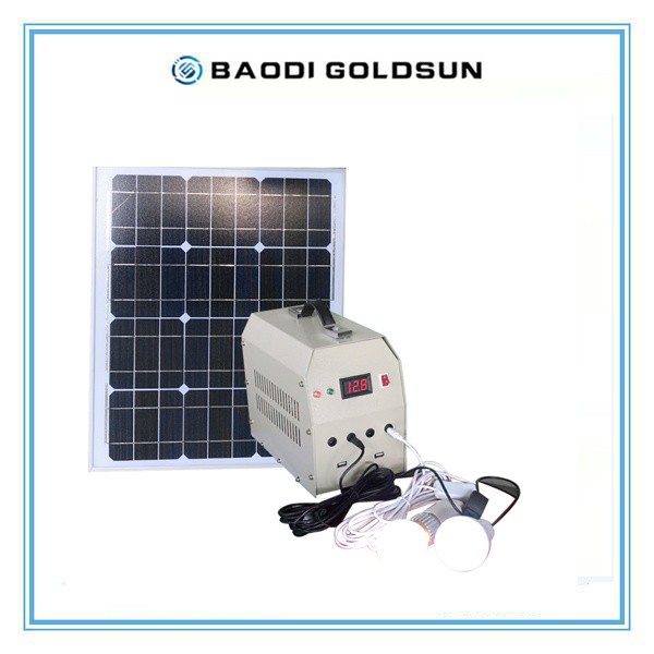 Small Mobile Solar Power Generator for Home Using, Outdoor Using