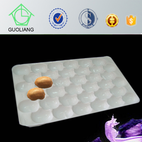 2015 Hot Selling FDA Approved 39*59cm Transportation Protective Blister Disposable Food Contract PP Trays for Apple in Europe