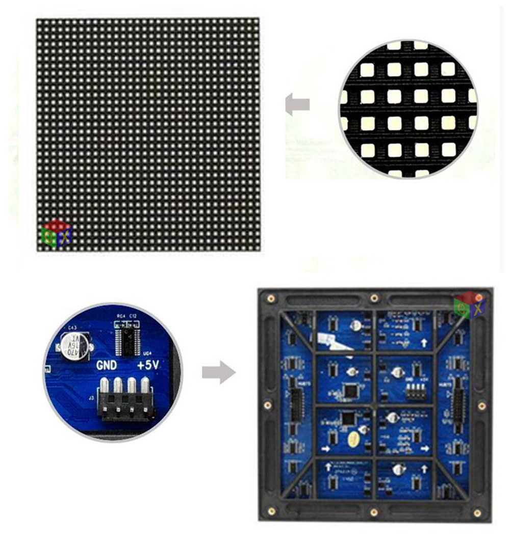 Outdoor Waterproof SMD P6 Full Color LED Module 192 * 192 mm 1/8 Scan for LED Display Screen