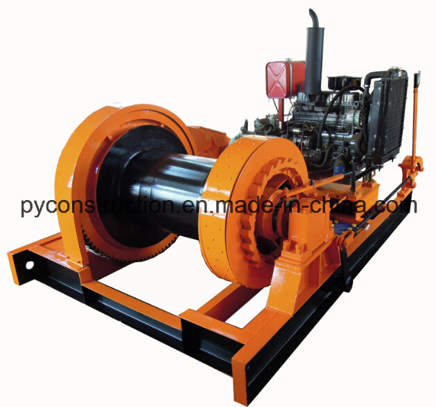 Diesel Marine Winch for Petroleum Engineering Lifting and Pulling