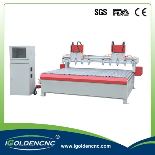 4 Axis Multi Spindle CNC Router Machine for Wood Furniture