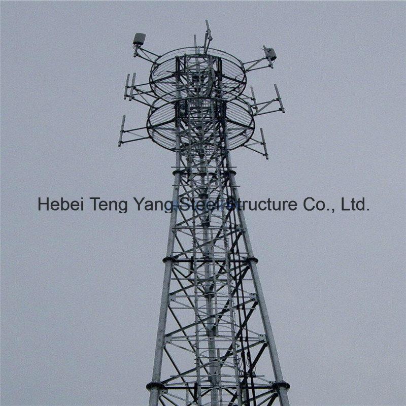 GSM Telecom 4 Legs Tubular Telecommunication Steel Tower