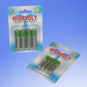AAA R03 Um4 1.5V Super Heavy Duty Small Card Pack Battery (R03P)