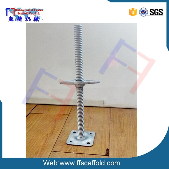Galvanized Steel Hollw Scaffolding Screw Jack Base for Scaffold (FF)