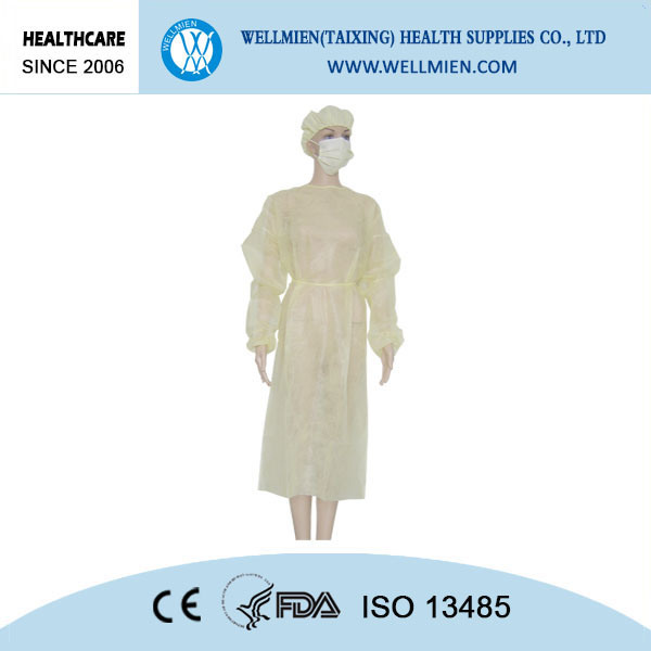 Nonwoven Disposable Isolation Gown Healthcare Products