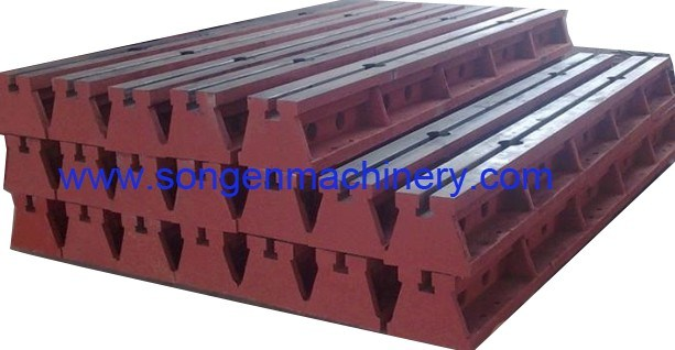 T-Slotted Cast Iron Floor Clamping Rails