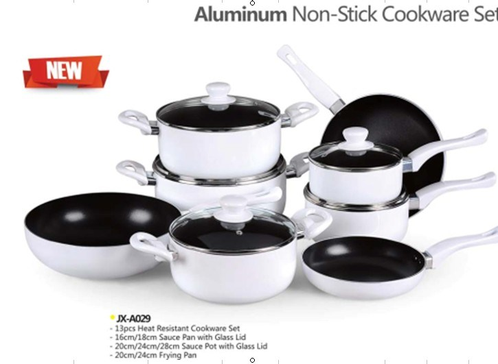 13PCS Aluminum Non-Stick Cookware Set (LF-A029)