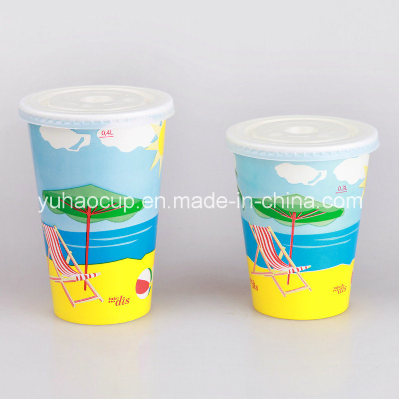 12oz Disposable Customized Printing Cold Drink Paper Cup (YHC-016)
