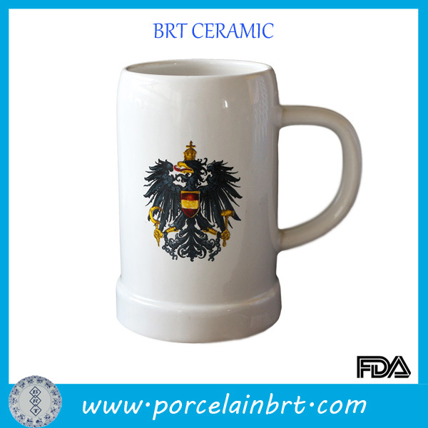 White Wholesale Custom Ceramic Beer Cup