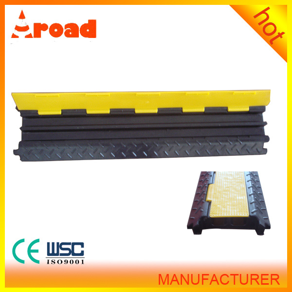 Factory Directly Sale Two Channel Rubber Cable Ramp