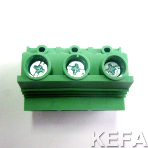 Screw Terminal Block with Wire Direction of 45 Angle