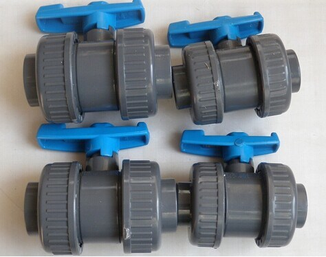 High Quality Plastic PVC Double Union Ball Valve for Irrigation