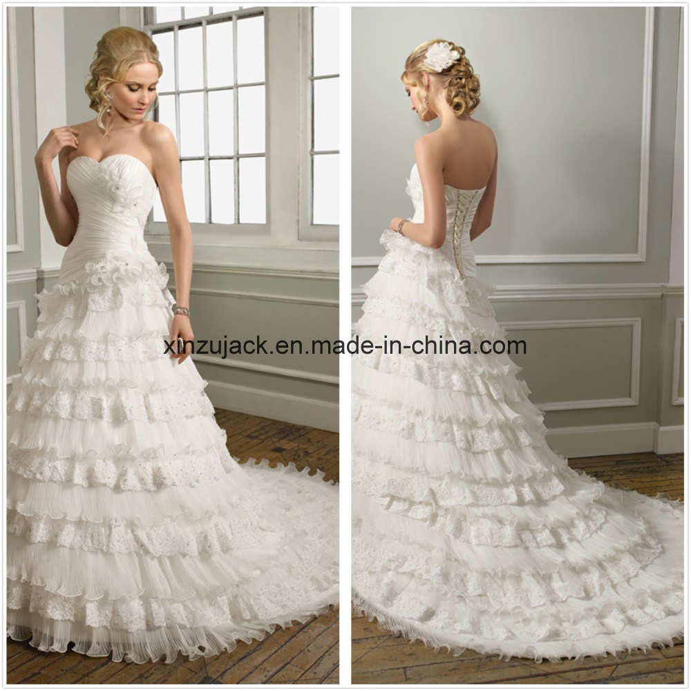 China Wedding Dress With Removable Train Xz425 Photos