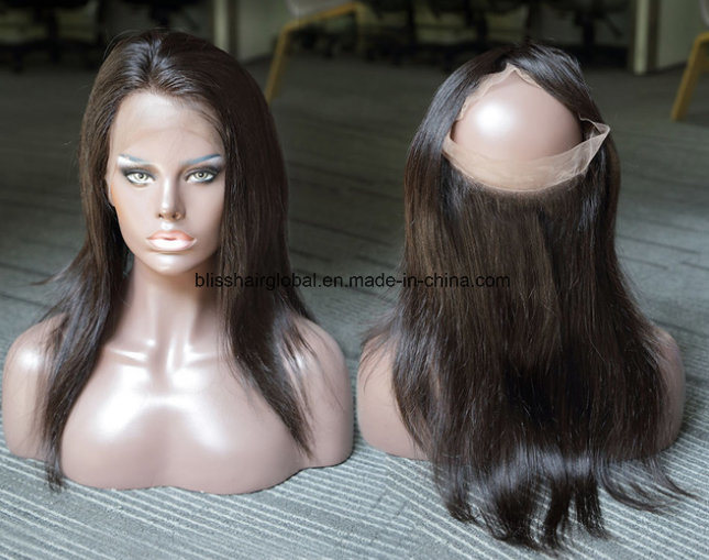 Bliss Hair 360 Lace Frontal Three/Free/Middle Part Top Swiss Lace Frontal Straight Brazilian Virgin Human Hair Frontal Pieces
