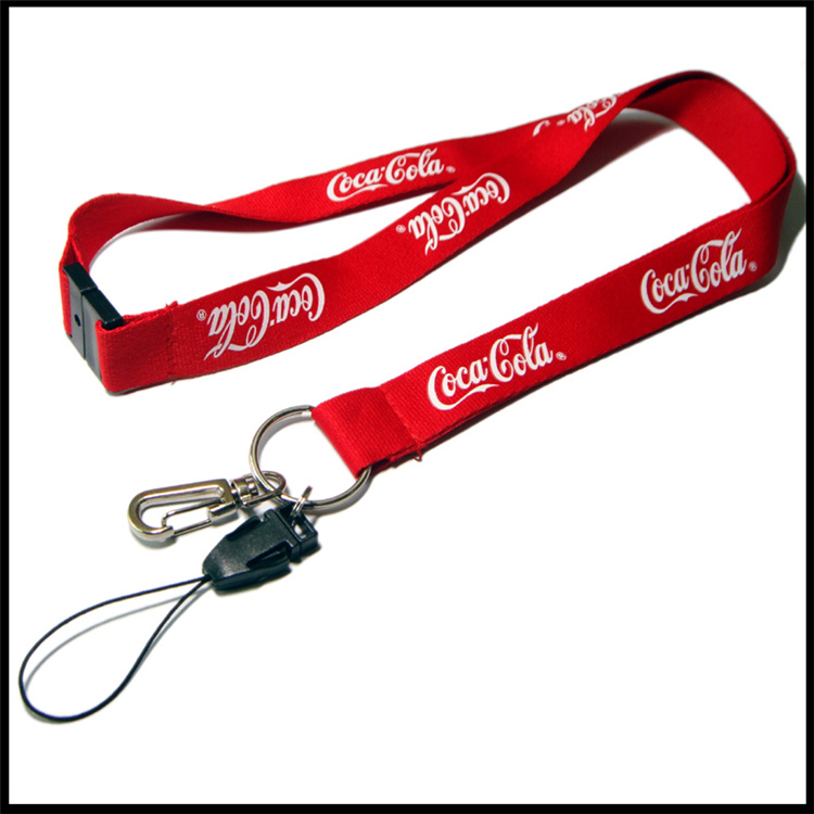 Polyester/Nylon Printed Logo Custom Lanyards with Retractable Badge Reel/ID Card Holder