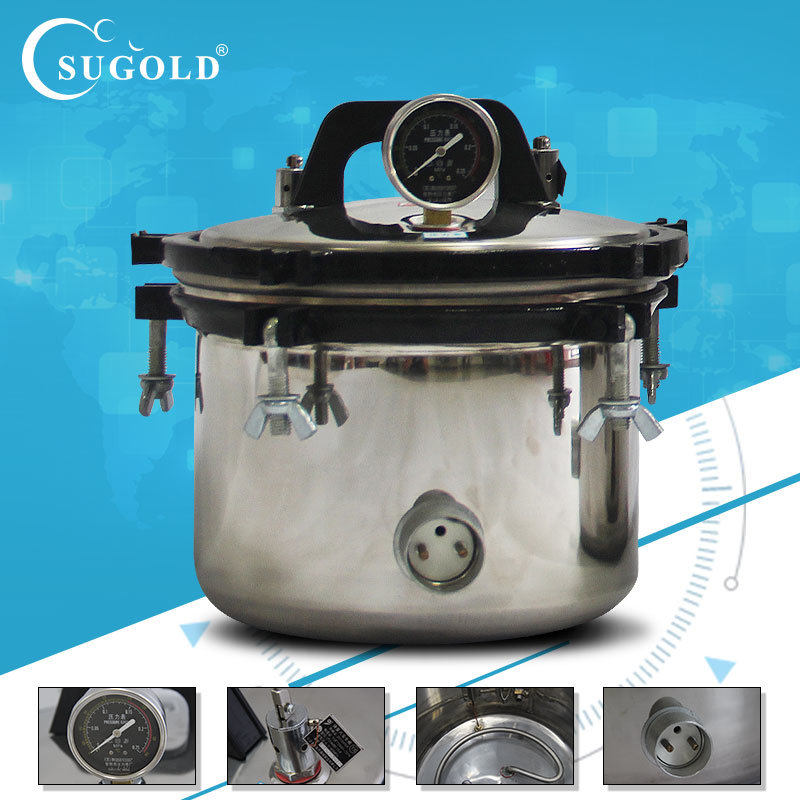 8liters Xfs-260 Stainless Steel Portable Autoclave Sterilizer Sterilization Pressure-Cooker