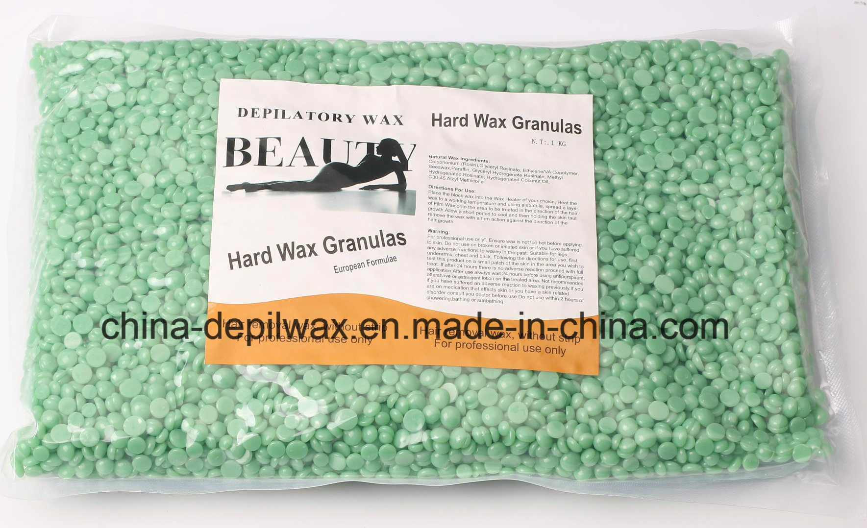 Red Hot Film Hard Wax Pellets Depilatory Wax for Stripless Waxing